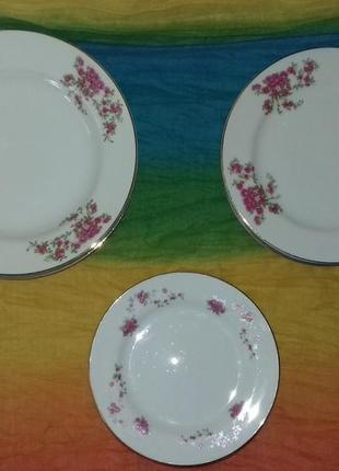 Набор из 18 шт. фарфоровых тарелок tono china ( made in japan )