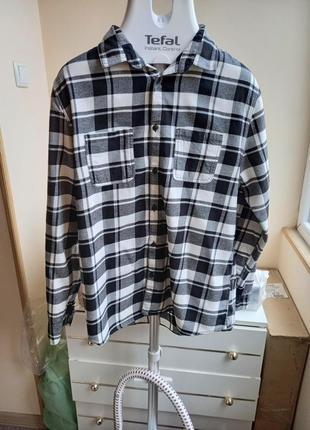 Стильная качественная плотная теплая рубашка divided by h&m