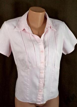 Офисная блузка - лен - 48р