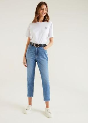 Мом джинсы высокая посадка большой размер батал   f&f
