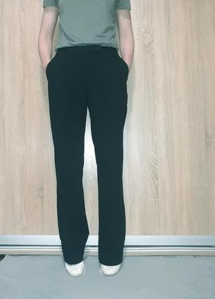 Классические деловые широкие брюки клеш палаццо на средней посадке h&m