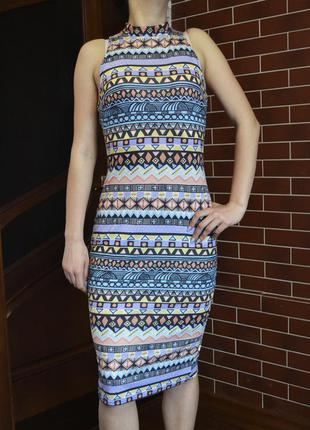 Очень классное платье с принтом, платье сарафан atmosphere