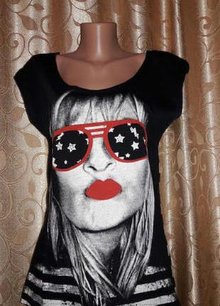 Стильная трикотажная футболка e-vie