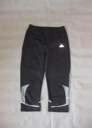 M-l, спортивные капри  adidas леггинсы оригинал, серые