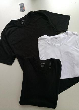 Комплект 3шт качественних котонових футболок от немецкого бренда livergy л