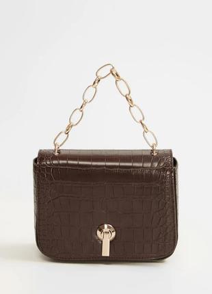 Новая маленькая сумка кросс боди через плечо с цепочкой mango манго