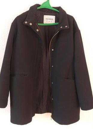 Пальто куртка стильное черное осень