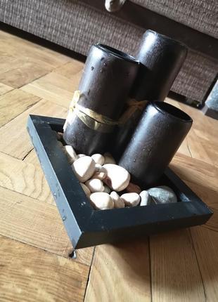 Подсвечник дерево деревянный чайные свечи