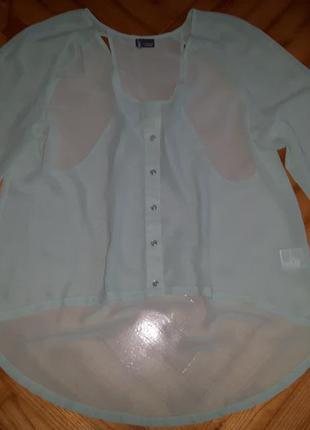 Шикарная мятная шифоновая блуза от sparkle&fade! p.-m
