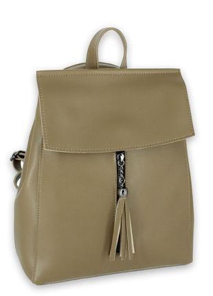 Стильный рюкзачок-трансформер цвета хаки