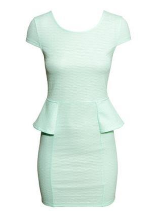 Летнее платье размер xs мята мятное сарафан футляр