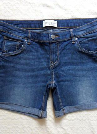 Стильные джинсовые шорты clockhouse, 14 размера.