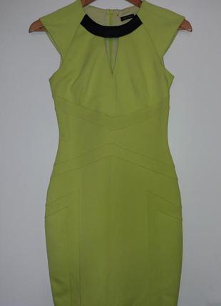 Шикарное платье миди river island лимонного цвета