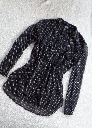 Шикарная блузочка удлинненная спинка