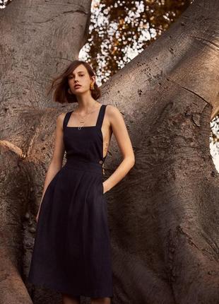 Серафан mango/женский сарафан/льняной сарафан/платье