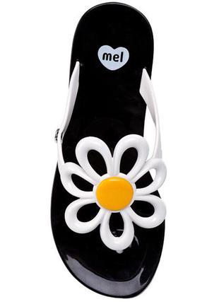 Вьетнамки mel by melissa flower ii sp ad 32142 black/white