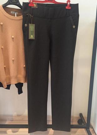 Шикарные утягивающие брюки лосины италия люкс качество батал