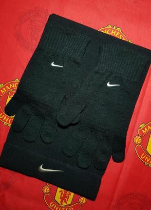 Nike комплект шарф и перчатки  adidas reebok kappa