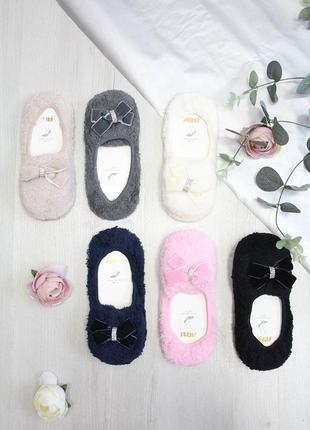 Носки-тапочки махровые с бантиком для девочки  arti