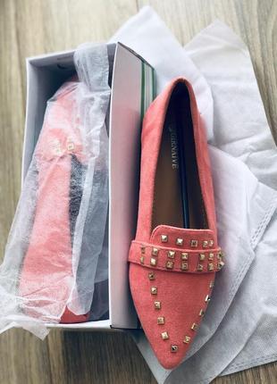 Терракотовые туфли розовые лофер/наложка3 фото