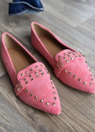 Терракотовые туфли розовые лофер/наложка6 фото