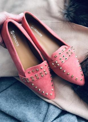 Терракотовые туфли розовые лофер/наложка1 фото