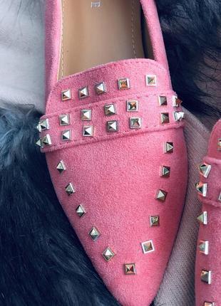 Терракотовые туфли розовые лофер/наложка4 фото