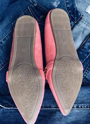 Терракотовые туфли розовые лофер/наложка2 фото