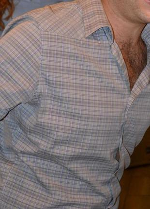 Базовая мужская рубашка в мелкую клетку