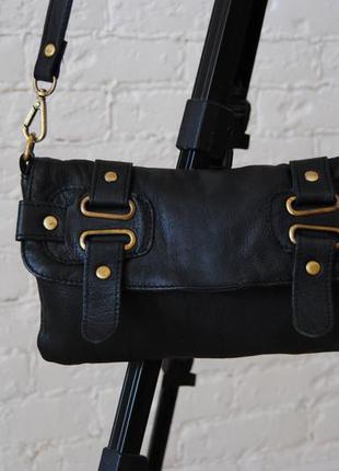 Кожаная сумка кроссбоди /шкіряна сумка f&f signature
