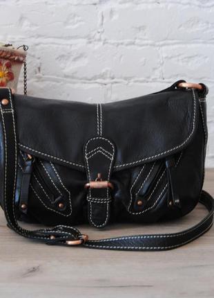 Кожаная сумка кроссбоди clarks / шкіряна сумка кроссбоді