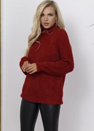 Теплый свитер объемной вязки (цвета уточнять)