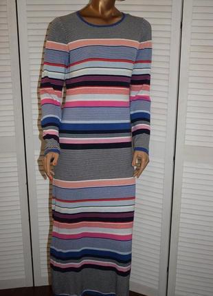 Платье миди в полоску esprit