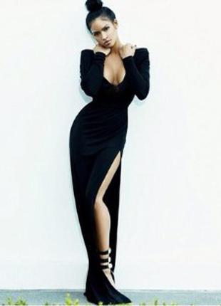Платье-футляр миди  asos в стиле ким кардашьян с разрезом до бедра