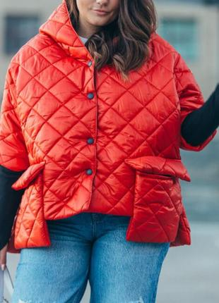 Стильная курточка с карманами батал