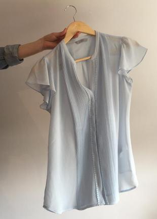 Небесно-голубая блуза от h&m