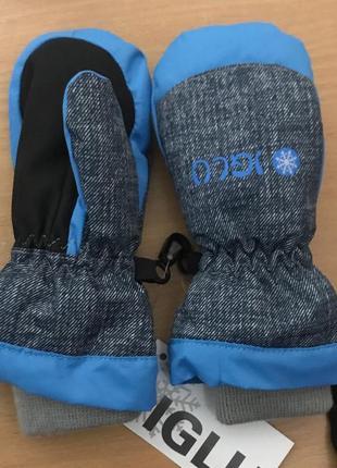 Iglu німеччина термо краги, рукавиці 12-24міс. червоні, рожеві, сині, сірі. 3m thinsulate