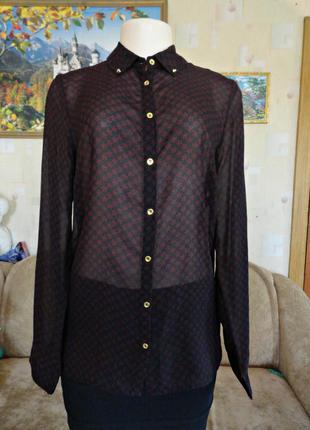 Очень классная рубашка со звездами, ткань приятная к телу / papaya / размер 12