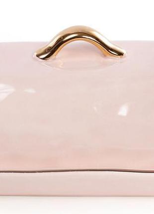 Масленка  22х13.4х8.1см, розовая