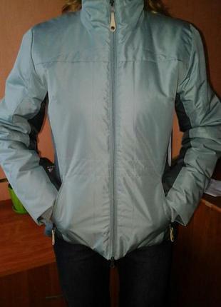 40-42р. спортивная осенне-весенняя куртка outventure,темно-бирюзового цвета.