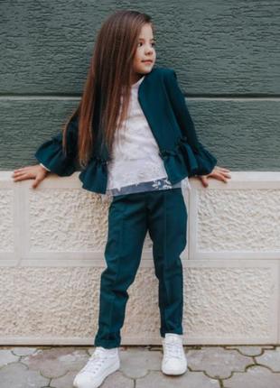 Костюм шкільний жакет+штани