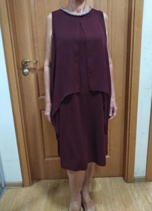 Стильное красивое платье. размер 16