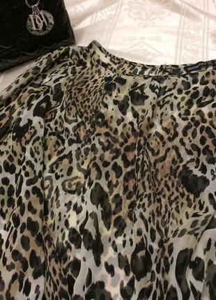 Блуза шифон с леопардоаым принтом