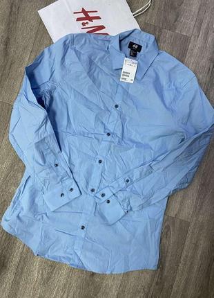 Рубашка h&m пог 53, пот 48 длина 77