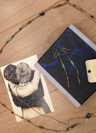 Набор серьги и подвеска accessorize