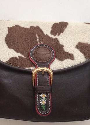 Кожаная сумка кроссбоди michel jordi,швейцария