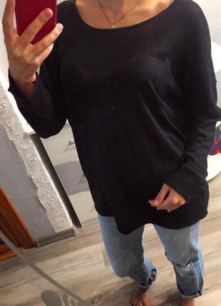 Брендовый свитер шерстяной от marc cain , кофта чёрная , джемпер , свитшот