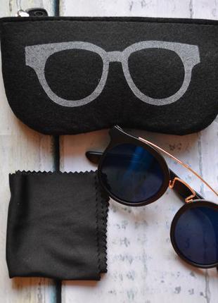 Набор солнцезащитные очки + чехол + салфетка