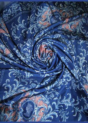 Дизайнерский шелковый платок – античные узоры – 100% шелк- италия - 69х70 см