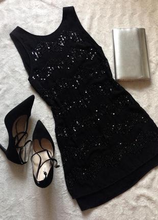 H&m платье нарядное черное коктейльное выпускное